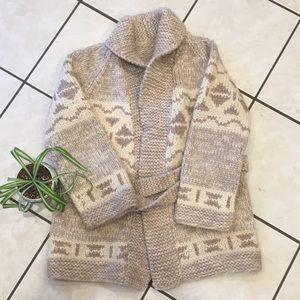 Amazing hand knit Cowichan style wool sweater